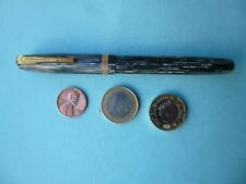 VINTAGE WATERMAN'S  W 3 FOUNTAIN PEN PEARLY BLUE/GREY STRIPES FOR REPAIR