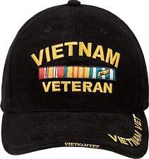 0cc1abbc529 Vietnam Veteran Baseball Hat 9321 Rothco Deluxe Low Profile Insignia Cap