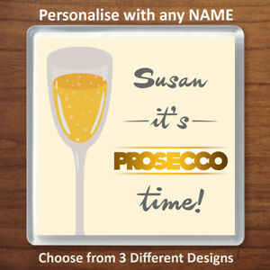 Personalised Prosecco Gift Drinks Coaster Mat Funny Friend Birthday Xmas Present