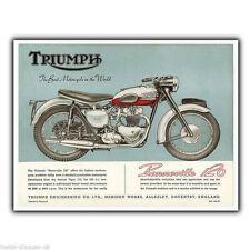 Triumph Bonneville 120 t120 Vintage Advert METAL SIGN WALL PLAQUE art print