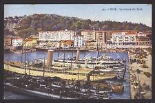 France. Nice. Intérieur du Port & Bateaux à Vapeur. Coloured Printed Postcard