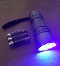 Ghost Paranormal Hunters 21 Led Ultraviolet Torch FREE BATTERIES
