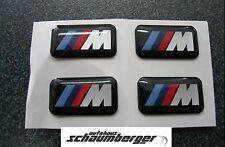 Original BMW Satz = 4 Stück  Aufkleber Emblem /// M Plakette für Alufelgen
