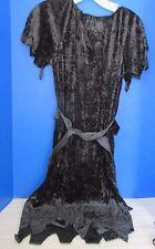 DISGUISE~Girls BLACK Velour DRESS HALLOWEEN COSTUME ~Size 7-10