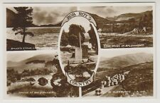 Stirlingshire postcard - Rob Roy's Country (Multiview) - RP (A411)