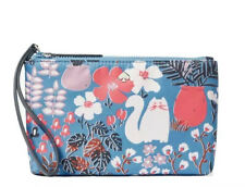 Kate Spade Jae Garden Cat Medium Double Zip Wristlet, New W/Tags NRFP, MSRP $139