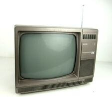 Philips 12tx2501 Vintage Eighties 8o s Portable Colour Television Gaming Retro
