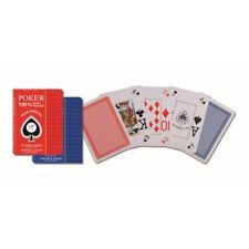 Piatnik 135811 - 100% Plastic Poker Texas Hold'Em Corner Index, 55 Karten