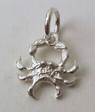 GENUINE SOLID 925 STERLING SILVER ZODIAC CANCER CRAB Charm/Pendant