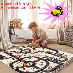 Kids City Road Play Mat Children Car Road Soft Carpet Rug Playmat Learning Toys