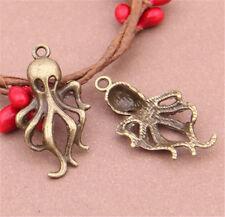 PJ618 12pc Antique Bronze octopus Pendant Bead Charms Accessories wholesale