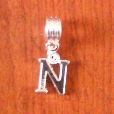 Pendentif argentée lettre N