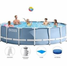 Intex 26752 Piscina Prisma rotonda fuori terra con kit accessori 549x122 cm
