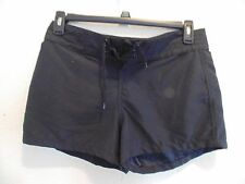 ISLAND ESCAPE BLACK TIE FRONT POLYESTER SWIM BOARD SHORTS - SIZE:6 - NWT