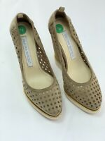 Womens Paloma Barcelo, Beige Suede Wedge Heels, Shoes UK 4/EUR 37
