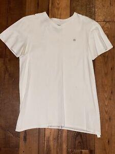 Calvin Klein White T-Shirt v-neck Boys Size L