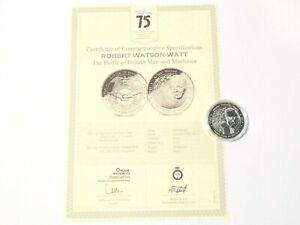 2015 Commemorative Medal Battle of Britain 75th Robert Watson Watt Finest Hour