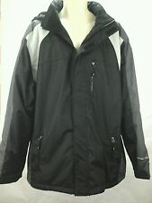 WEATHERPROOF 32 Degrees Heat Mens Hydro-Tech Coat Black and Gray $225 EUC