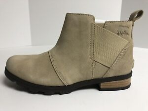 Sorel Emelie Chelsea Waterproof Boots Women's Size 9M, Beige/Light Brown