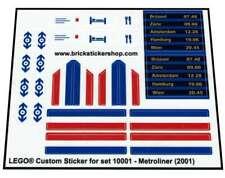Precut Custom Replacement Stickers voor Lego Set 10001 - Metroliner (2001)