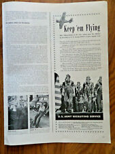 1940 Army Recruiting Ad Keep'em Flying The West Point of the Air