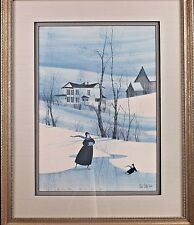 """""""Skating Dreams"""" P Buckley Moss Limited Edition Print Signed & Numbered 183/1000"""