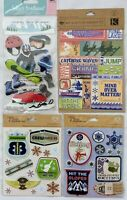 Skiing Snowboarding Extreme Winter Sports Scrapbook Stickers Lot of 4 Jolees LLO