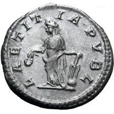 Roman coin Elagabalus AR Denarius. Rome, AD 218-222. LAETITIA PVBL
