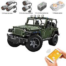 Technic RC Jeeps Wrangler Adventure Off-road Vehicle Building Blocks Bricks Toys