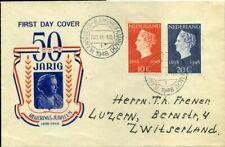 420386) Niederlande FDC Nr. 507-508 Königin 1948