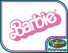 Barbie Logo Doll B Vinyl Sticker Car Bike Laptop Wall Art Poster Window Decal
