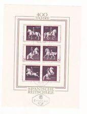 Austria 1972 Spanish Riding School 400th Anniversary Sheet of 6 First Day Cancel