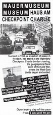 BERLIN WALL MUSEUM & CHECKPOINT CHARLIE - PROMOTIONAL FLYER!!!