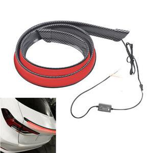 120cm LED Spoiler Carbon Fiber Style Fit For Car Rear Tail Trunk Lip Wing Trim