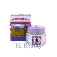 Thai White Monkey Holding Peach medicated Balm Muscle Pain Relief 12g