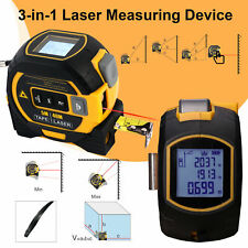 3-in-1 Laser Tape Measure Long-Distance Measuring 131 Ft Pythagorean Mode