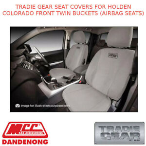 TRADIE GEAR SEAT COVERS FITS HOLDEN COLORADO FRONT TWIN BUCKETS (AIRBAG SEATS)