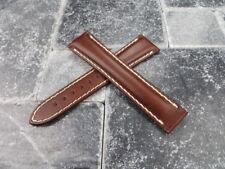 OMEGA 18mm Brown Calf Leather Deployment Strap Beige Watch Band Speedmaster 18