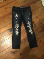American Eagle Distressed Skinny Jeans Ripped Destroyed size 6