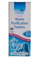 100 Tablets Verfallsdatum 2 X Oasis Wasser Reinigung Tabletten 50ER JAHRE