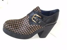 NEW STUDIO POLLINI BOOTIE ANKLE BOOTS BLACK LEATHER BUCKLE ITALY SZ 37 / US 7 M