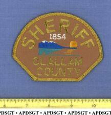 CLALLAM COUNTY SHERIFF (Gold Mylar) WASHINGTON Police Patch OCEAN SUNSET