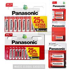 PANASONIC AA, AAA, 9V, C, D ZINC CARBON BATTERIES R14,LR20,LR03 - EXPIRY 2022/3