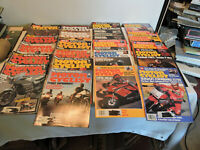 LOT 32 VINTAGE MOTOR CYCLIST MAGAZINE 8 of 1987 FULL YEARS OF 1985 & 1983