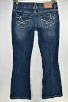 Amethyst Flare Bell Bottom Boot Cut Womens Jeans Sz 5 Bootcut Meas 27x31.5 Flap