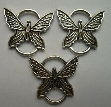 12 pcs Tibetan silver butterfly charms connector