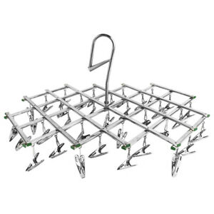 35 Drying Rack Folding Stainless Steel Clothes Hanger Underwear Sock Airer Towel