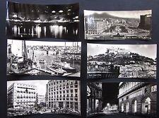 NAPOLI PANORAMICHE lotto 6 cartoline vera foto panorama fuori misura