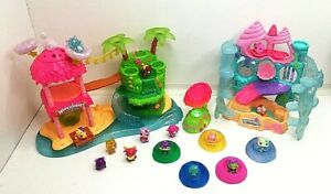 HATCHIMALS COLLECTABLES TROPICAL PARTY LIGHT/SOUND AND CORAL CASTLE PLUS FIGURES