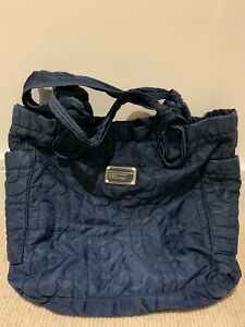 Marc by Marc Jacobs Nylon Quilted Large Tote Bag Navy Blue